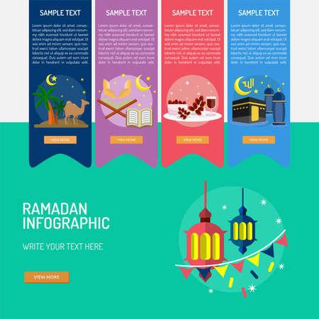 Ramadan Infographic. Vector illustration.