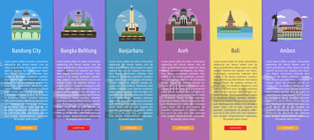 Infographic City of Indonesian. Vector illustration.