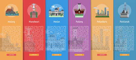 City of Indonesia Vertical Banner Concept