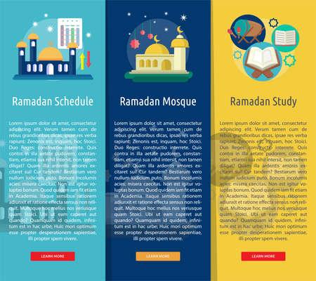 Ramadan Vertical Banner Concept Illustration