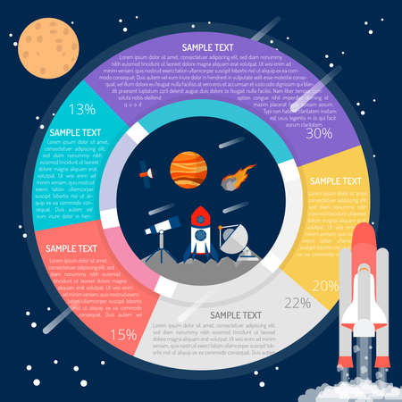 Space Technology Infographic Ilustrace