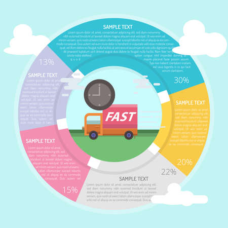 Fast Delivery Infographic Stock Vector - 82241837