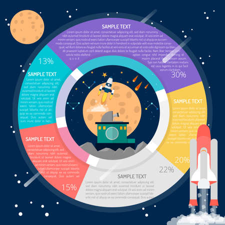 Space Research Infographic Stock Illustratie
