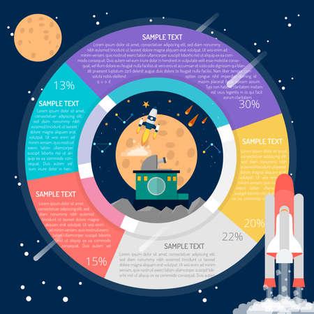 Space Research Infographic Illusztráció