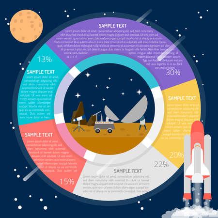 Space Machine Infographic Illustration
