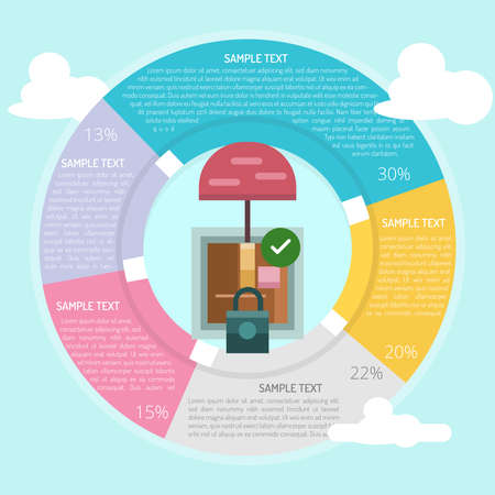 looked: Protection Package Infographic Illustration