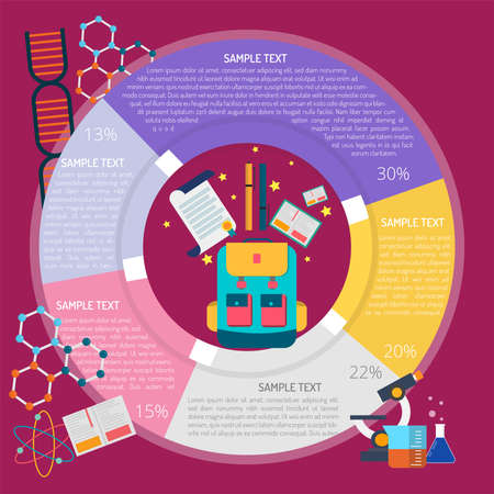 Study Infographic illustration.