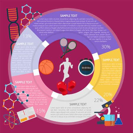 Study Sport Infographic illustration. Illustration