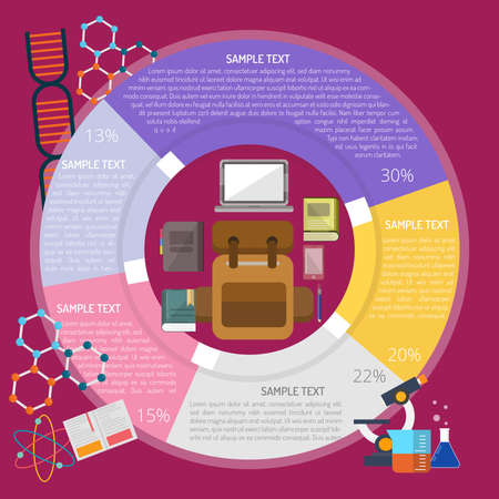 Im Ready to School Infographic illustration. 向量圖像