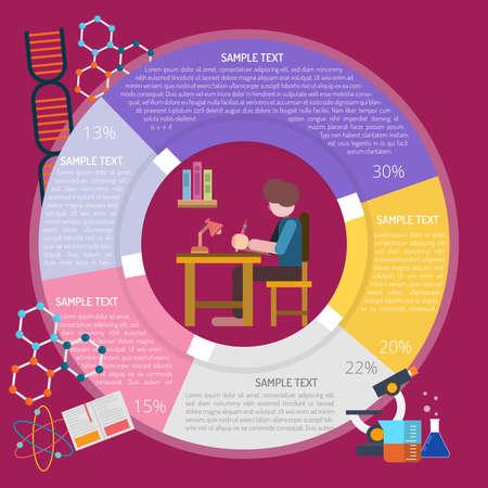 Writing Infographic illustration. Illustration