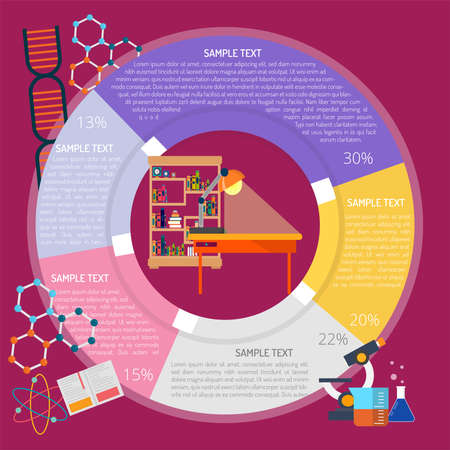 Library Infographic illustration.