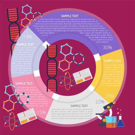 Scientific Infographic illustration. Çizim