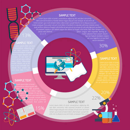 E-Learning Infographic illustration.