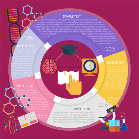 Study Time Infographic illustration.