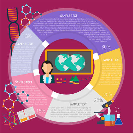Learning Geography Infographic illustration. Illustration
