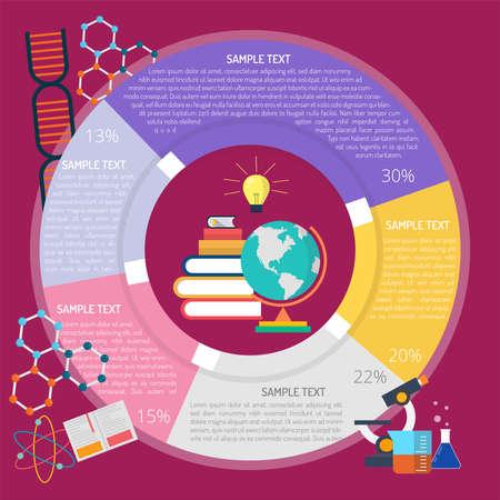 Knowledge Infographic illustration. Illustration