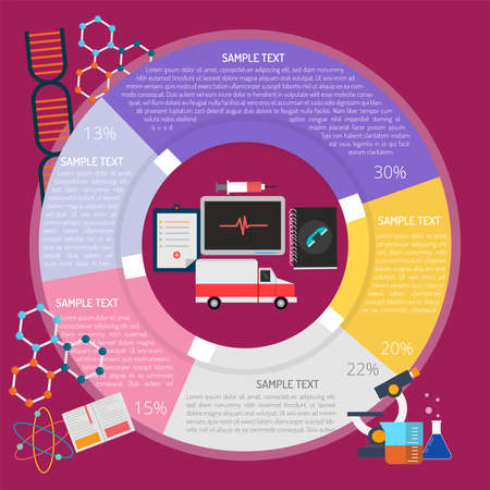 Operational research Infographic Vectores