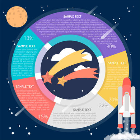 Falling Star Diagram Infographic Иллюстрация