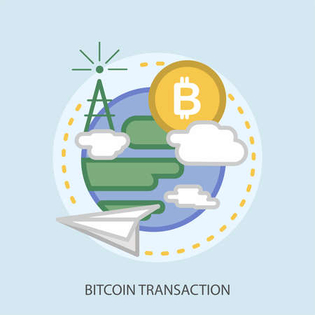 Bitcoin Transaction Conceptual Design Ilustracja