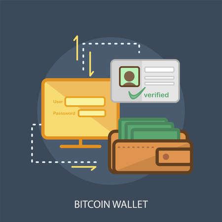 Bitcoin Wallet Conceptual Design Иллюстрация
