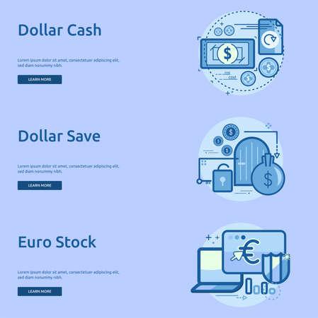 Currencies Conceptual Banner Design