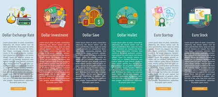 Currencies Vertical Banner Concept Illustration