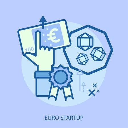 Disegno concettuale di avvio di euro Archivio Fotografico - 82683759