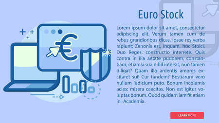 Euro Stock Conceptual Banner