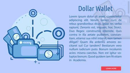 Dollar Wallet Conceptual Design Иллюстрация