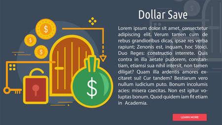 Dollar Save Conceptual Design Ilustrace