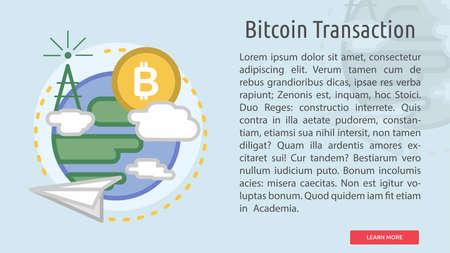 Bitcoin Transaction Conceptual Design Иллюстрация