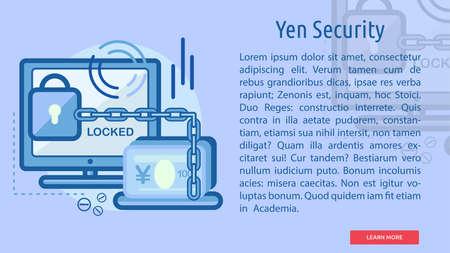 Yen Security Conceptual Banner