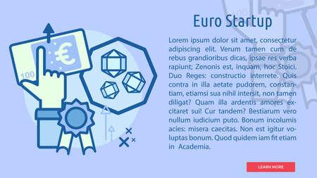 Euro Startup Conceptual Banner