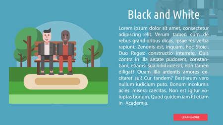 Zwart-wit conceptueel ontwerp Stock Illustratie