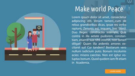 Maak wereldvrede conceptueel ontwerp