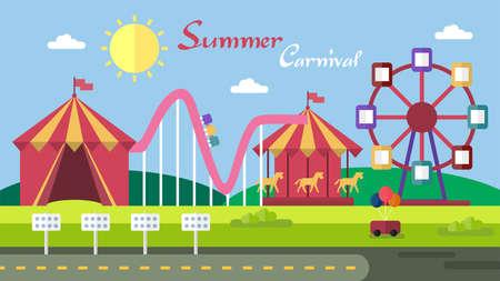 Summer Carnival Background