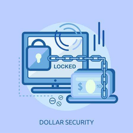 ドルのセキュリティ概念設計  イラスト・ベクター素材