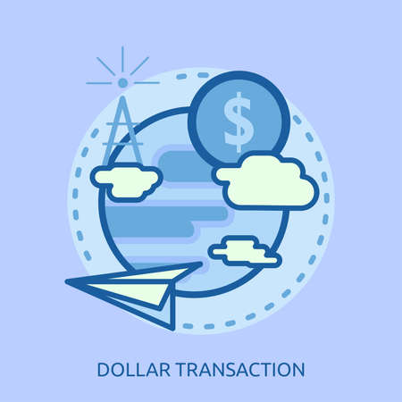 ドル トランザクション概念設計  イラスト・ベクター素材