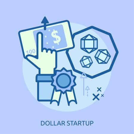 Dollar Startup Conceptual Design Stock fotó - 83351610
