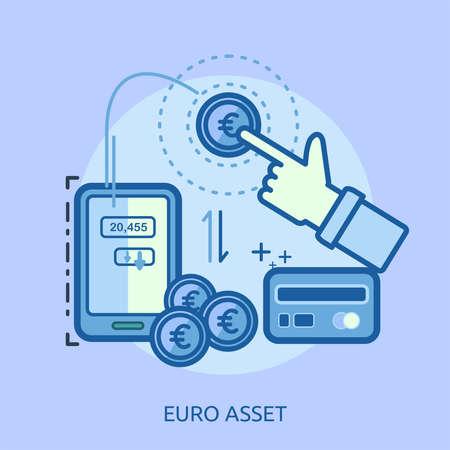 ユーロ資産概念設計  イラスト・ベクター素材
