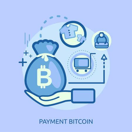 支払の概念設計図。  イラスト・ベクター素材