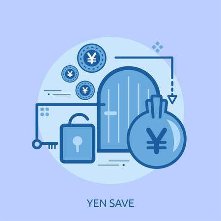 Yen Save Conceptual Design Ilustrace