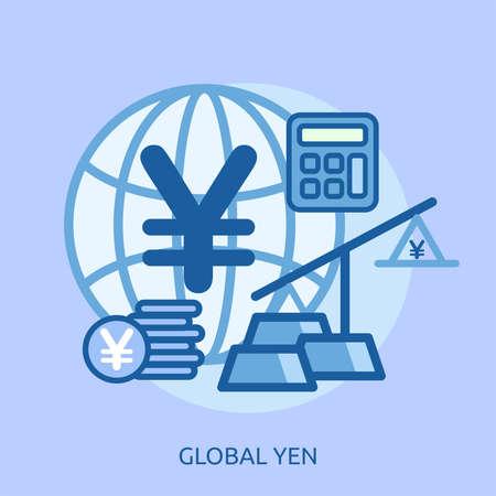 Global Yen Conceptual Design Ilustrace