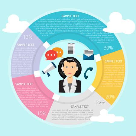 Communicator Infographic Illusztráció
