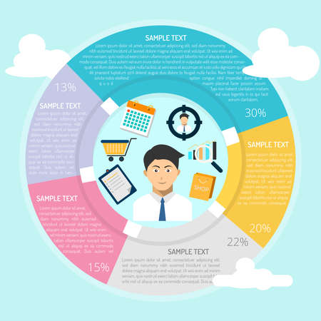 Salesman Infographic Illustration