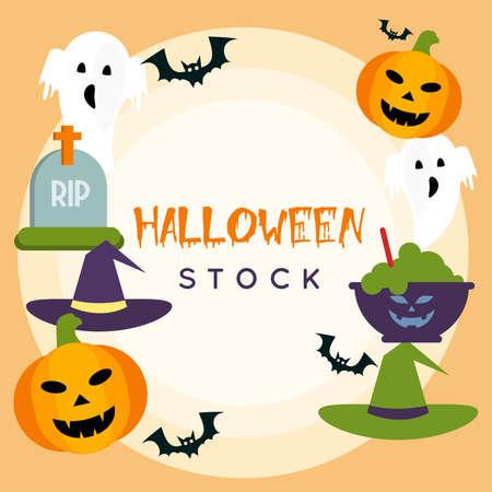 Halloween Stock vector illustration. Ilustração