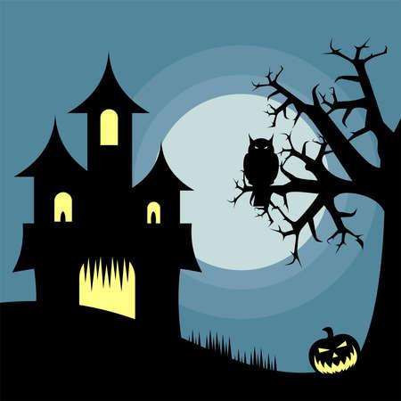 Halloween House vector illustration. Ilustração