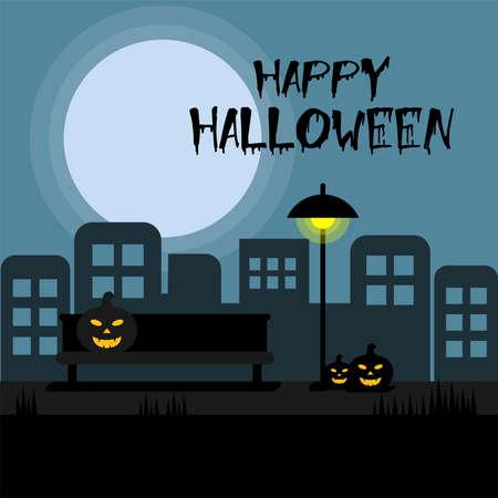 Halloween Road vector illustration. Ilustração