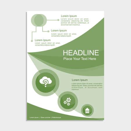 Green Tea Proposal Vector illustration.