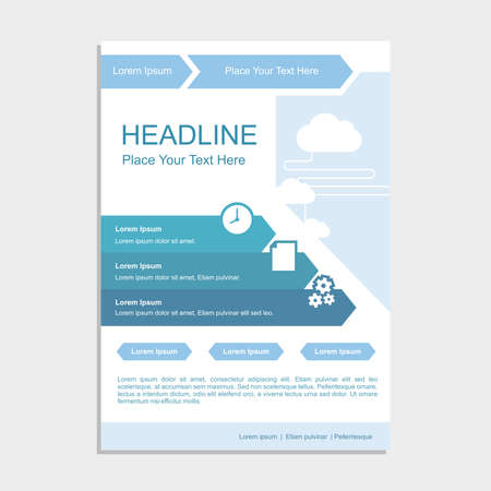Simple Blue Cloud Proposal Vector illustration.